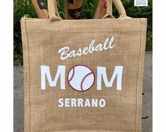 Baseball mom tote, Baseball mom, Baseball mom bag, Baseball party, Baseball tote