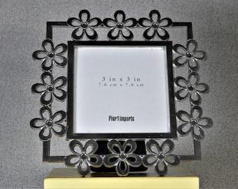 3x3 Frame Photo Frame Metal Flowers Square Frame