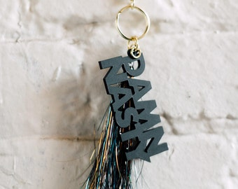 Damn Nasty Keychain, 1 CT with Gold Key Lobster Claw Clasps and Key Ring