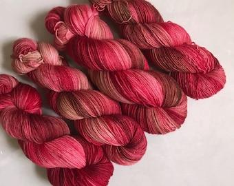 Glitzy Sock 'Flame Trees' Hand Dyed Yarn