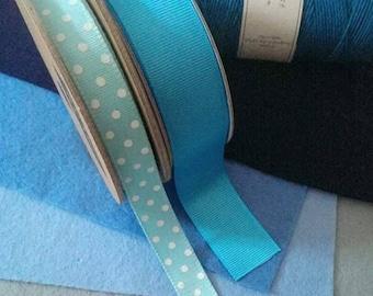 Blue felt & ribbon bundle