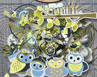 Digital Scrapbooking: Owl Love You Always Elements Pack