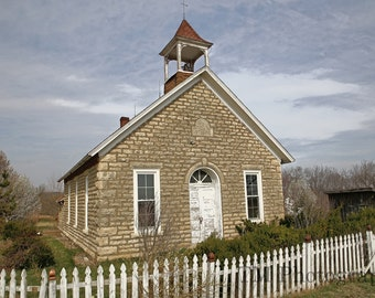 One Room Schoolhouse - Hinerville, Hinerville Schoolhouse - 1800's - Schoolhouse -  Old School -1800's Schoolshouse - Fine Art Photography
