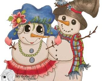 INSTANT DOWNLOAD Digital Digi Stamps Big Eye Big Head Dolls NEW Bestie  IImg scoo1sb My Besties By Sherri Baldy