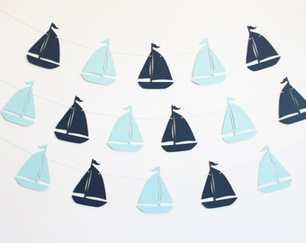 Sailboat Party Banner - Customizable Colors