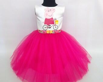 Soft Pink Peppa Pig Tutu Dress, Peppa Pig Birthday Outfit