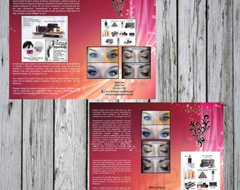 Custom Business Brochures Half Fold with limited revisions. Digital file Only