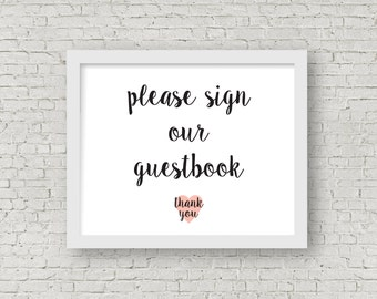 please sign our guestbook pdf // instant download