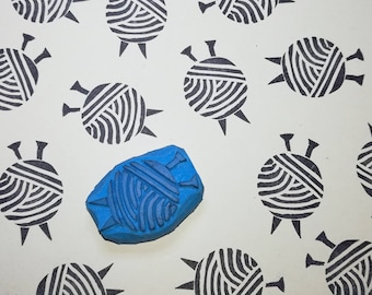 Knit rubber stamp, knit stamp, hand knit stamp, hand knitted stamp, knitting rubber stamp, knitters gift stamp, Wool and Needles stamps, diy
