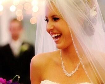 Crystal Wedding Necklace. Swarovski Wedding Necklace, Crystal Necklace, Swarovski Wedding Jewelry