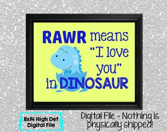 Rawr Dinosaur Sign