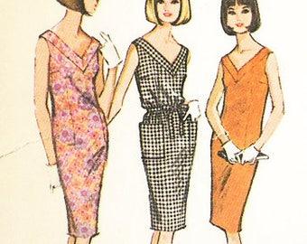 McCall's Vintage 1960s - MOD SHIFT DRESS  - Sewing Pattern - Size 14-16 - Uncut