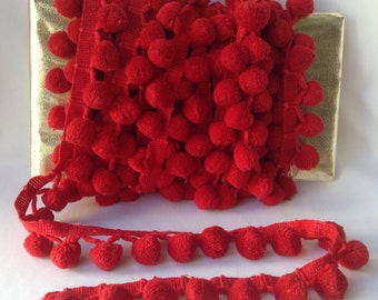 Red Pom Pom Fringe