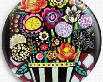 Needle Minder, Flower Needle Minder, Licensed Art, Heather Galler, Cross Stitch Keeper, Fridge Magnet