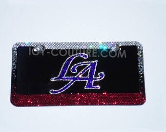 LA License Plate  Swarovski Crystals