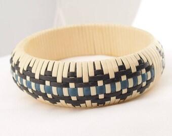 Gewebte Armreif, Native American Art Armreif Armband, Korbgeflecht, Stammes-Boho Casual Schmuck