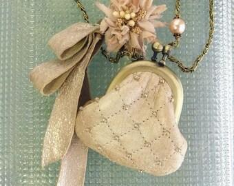 mini leather purse necklace - risshun