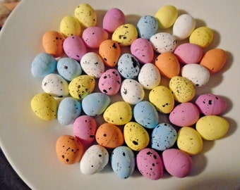Mini Speckled Easter Eggs Crafts Pink Blue Yellow Peach White For Bird Nests Shabby Chic Decor Decorations
