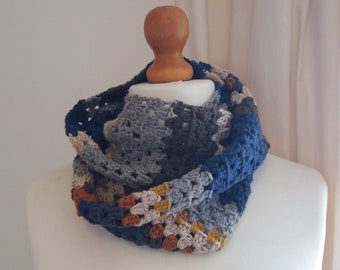 Autumn Days Crochet Infinity Scarf Scarf