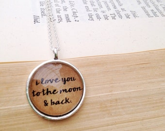 To the Moon and Back.  Hendersweet Moon Love Necklace.