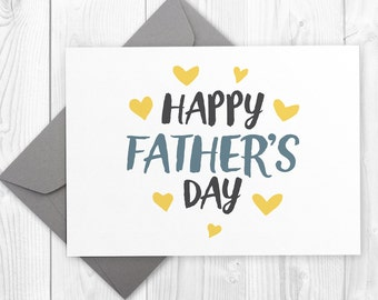 Printable Happy Father's Day card for dad, greeting card for Father's Day, card for father, card for dad