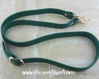"""46"""" Green Faux Leather Purse Straps"""