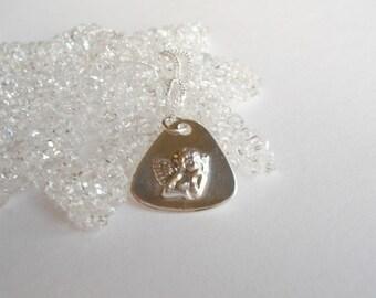 Cherub Necklace - Fine Silver Pendant