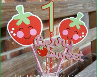 Strawberry Centerpiece, Strawberry Birthday
