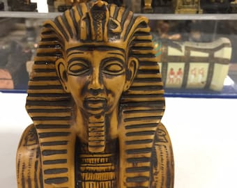 Vintage Hand Carved Egyptian King Tut Made  In Egypt
