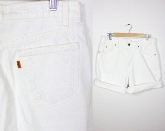 Vintage Retro White Levi Style High Waisted Shorts