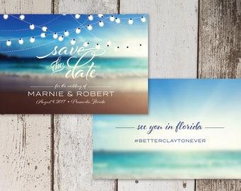 Beach Wedding Save the Date Digital File