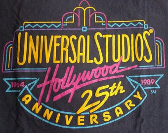 Vintage 1989 Universal Studios Hollywood 25th Anniversary T-Shirt