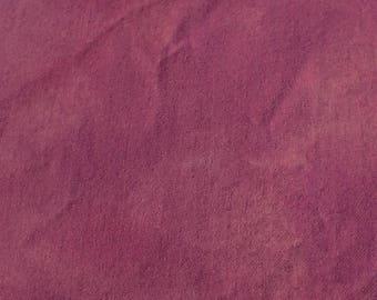 Teint à la main laine tissu - laine violet moyen - tapis accrocher - applique et l'artisanat - primitive d'artisanat - quilting arts de l'aiguille - couture - - 023