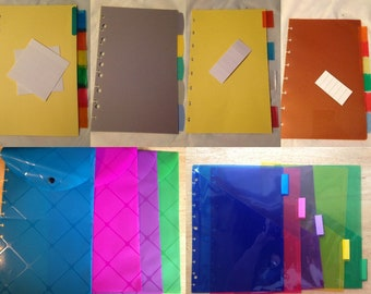 Discbound Notebook Planner Punched Accessories: Letter/Junior Dividers, Sheet Protector, Envelope TUL Arc Levenger Circa Happy Planner MAMBI