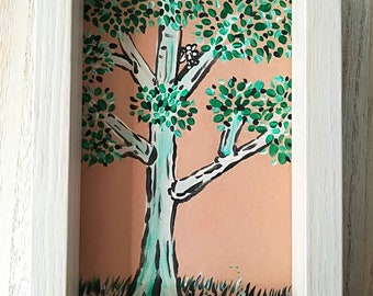 Tree with small fairy handpainted