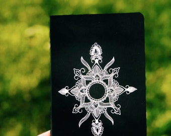 White Mandala Moleskine Notebook
