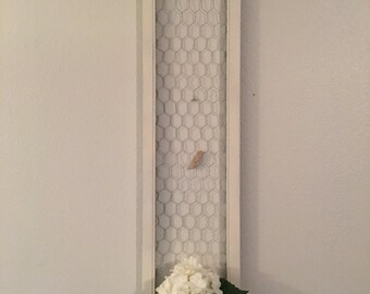 Message Board/ Picture Hanger/ Chicken Wire Wall Hanging