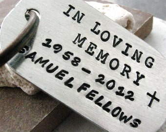 In Loving Memory Memorial Keychain, Personalized details, loss of loved one, sympathy gift, remembrance keychain, memorial keepsake