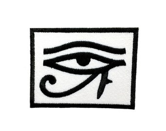"3.5"" Ancient egyptian gold All seeing EYE OF RA horus Embroidered Iron on patch"