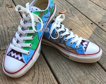 Customized Sneakers - Handmade Converse personalized to your specifications