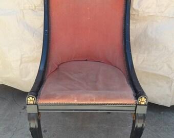 Neoclassical Swan Desk Chair