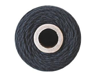 Black Bakers Twine - Solid Charcoal - 240 Yard Spool