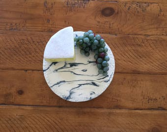 Ceramic cheese or desert plate