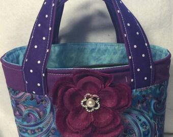 Small tote/scripture bag/Bible bag/ Bible tote/scripture case/ Quad scripture case/purple scripture bag