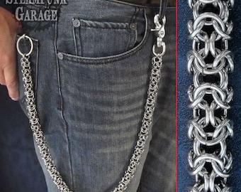 Wallet Chain - Steel Turkish Round - Stainless Steel