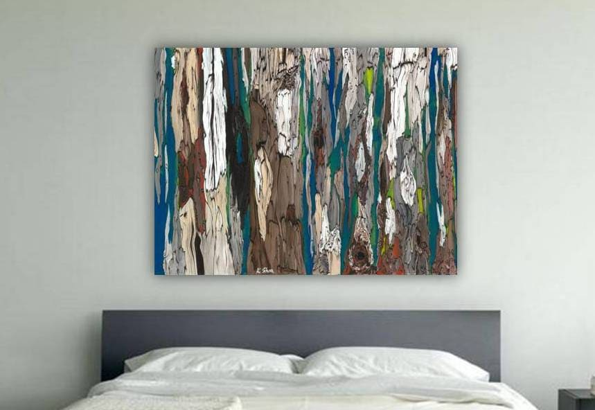 oversized masculine Extra LARGE wall Art canvas bedroom