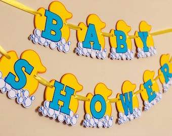 Rubber Duck Baby Shower, Rubber Duck baby banner, Baby shower banner, baby shower decorations,Rubber Duck baby theme, Maternity photo prop