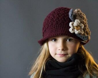Crochet PATTERN Montgomery Cloche Girls and Ladies Crochet Hat Pattern Includes Sizes Newborn to Ladies