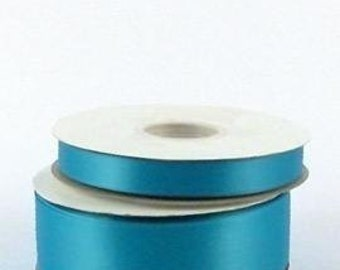 1/4 inch x 100 yds Single Face Satin Ribbon -- TURQUOISE