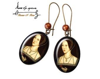 Anne Boleyn cabochon Queen gift earrings